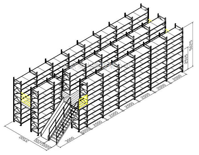 仓库货架摆放设计图